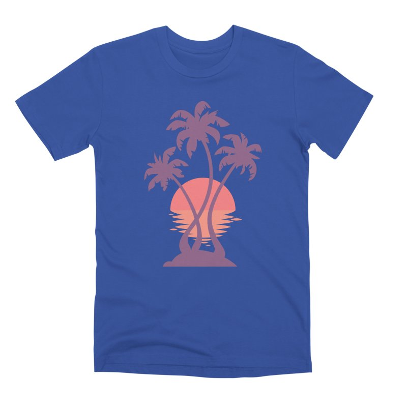 3 Palm Sunset Men's Premium T-Shirt by Waynem