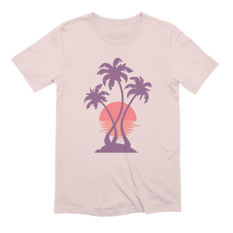 3 Palm Sunset Men's Extra Soft T-Shirt by Waynem