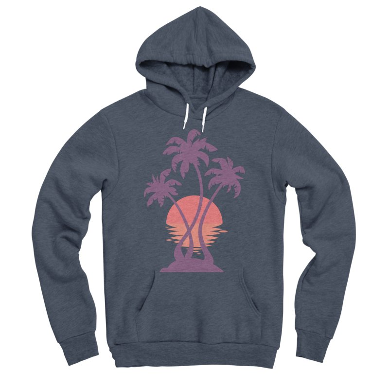 3 Palm Sunset Women's Sponge Fleece Pullover Hoody by Waynem