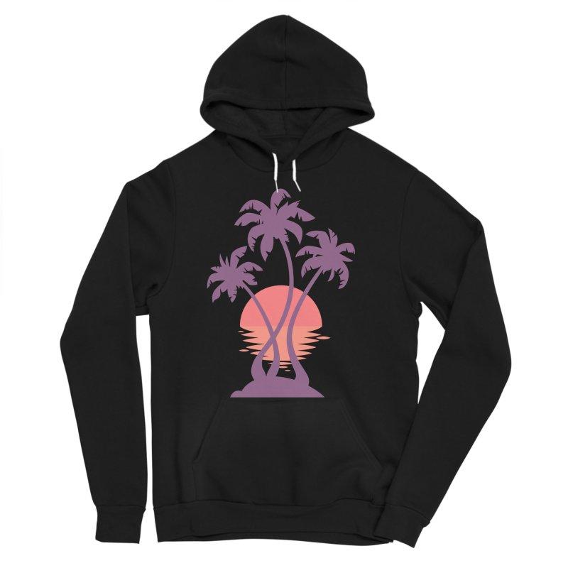 3 Palm Sunset Women's Sponge Fleece Pullover Hoody by Waynem
