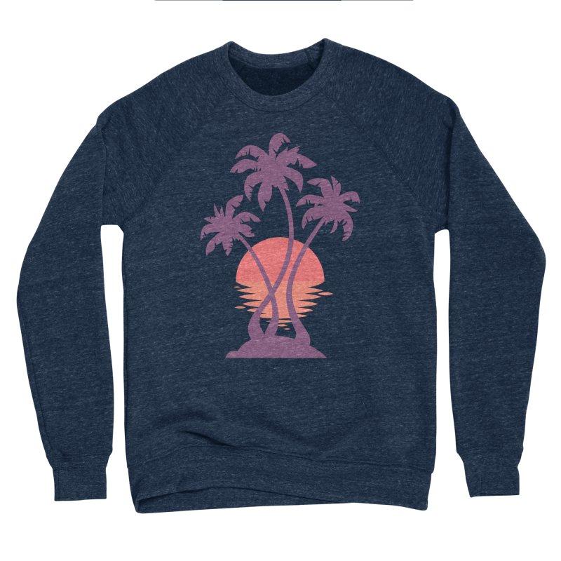 3 Palm Sunset Men's Sponge Fleece Sweatshirt by Waynem