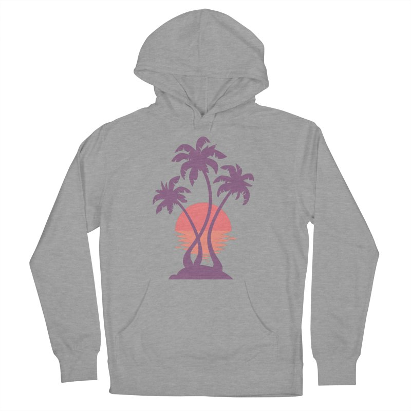 3 Palm Sunset Women's French Terry Pullover Hoody by Waynem
