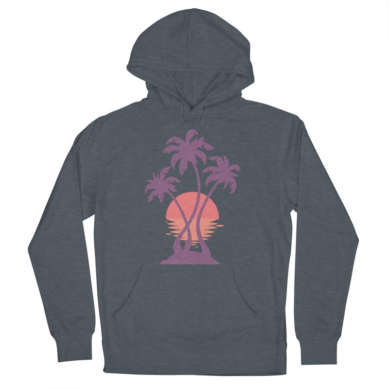 3 Palm Sunset Men's French Terry Pullover Hoody by Waynem