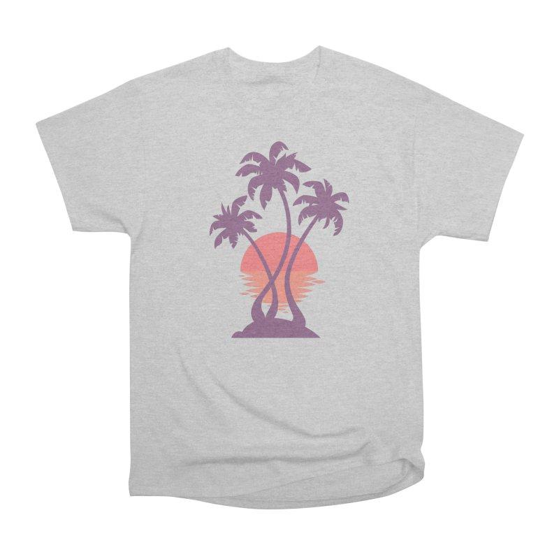 3 Palm Sunset Women's Heavyweight Unisex T-Shirt by Waynem