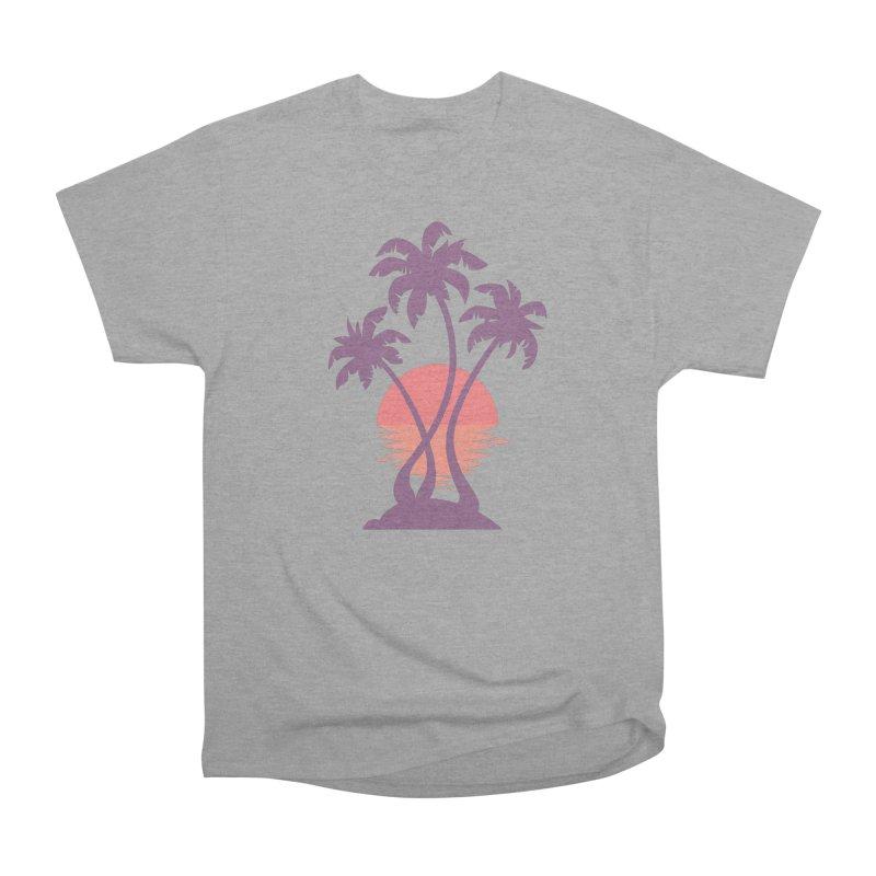 3 Palm Sunset Men's Heavyweight T-Shirt by Waynem