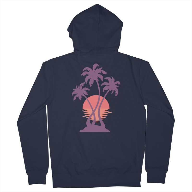 3 Palm Sunset Women's French Terry Zip-Up Hoody by Waynem
