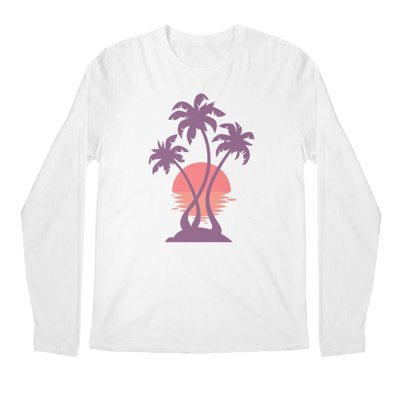 3 Palm Sunset Men's Regular Longsleeve T-Shirt by Waynem