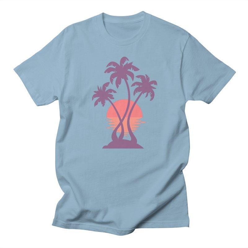 3 Palm Sunset Women's Regular Unisex T-Shirt by Waynem