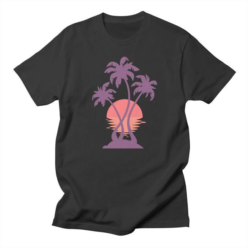 3 Palm Sunset Women's Regular Unisex T-Shirt by Waynem