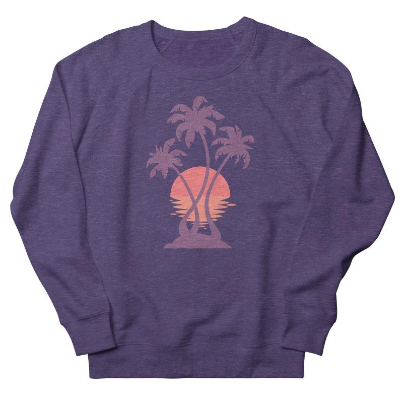 3 Palm Sunset Women's French Terry Sweatshirt by Waynem