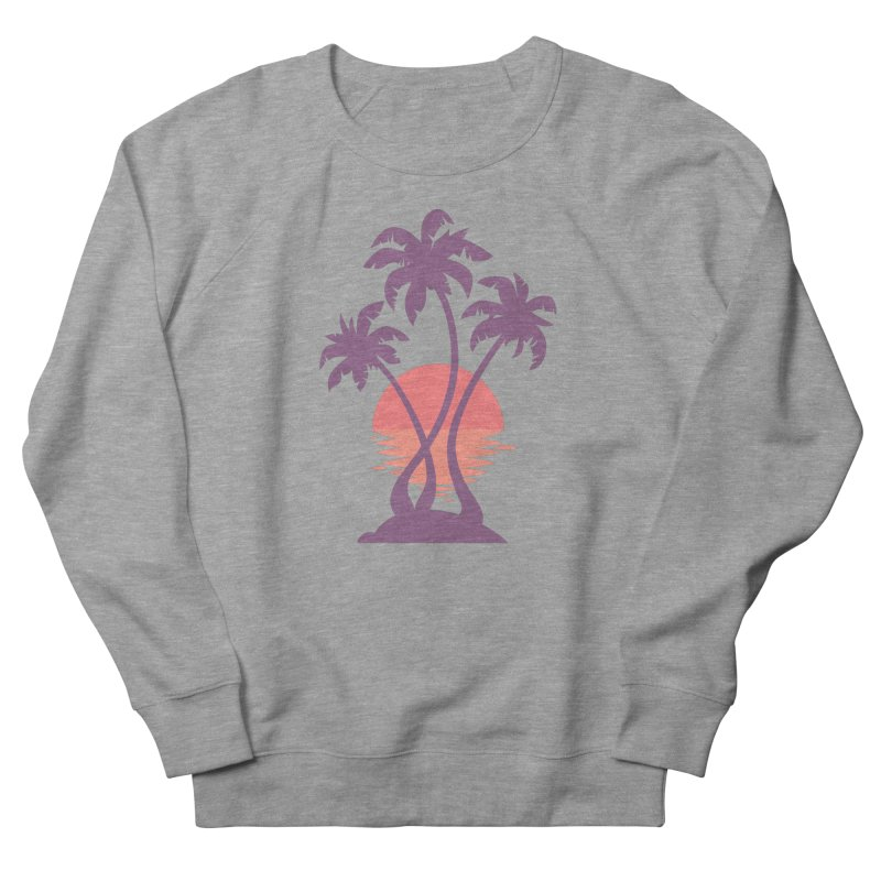 3 Palm Sunset Women's French Terry Sweatshirt by Waynem