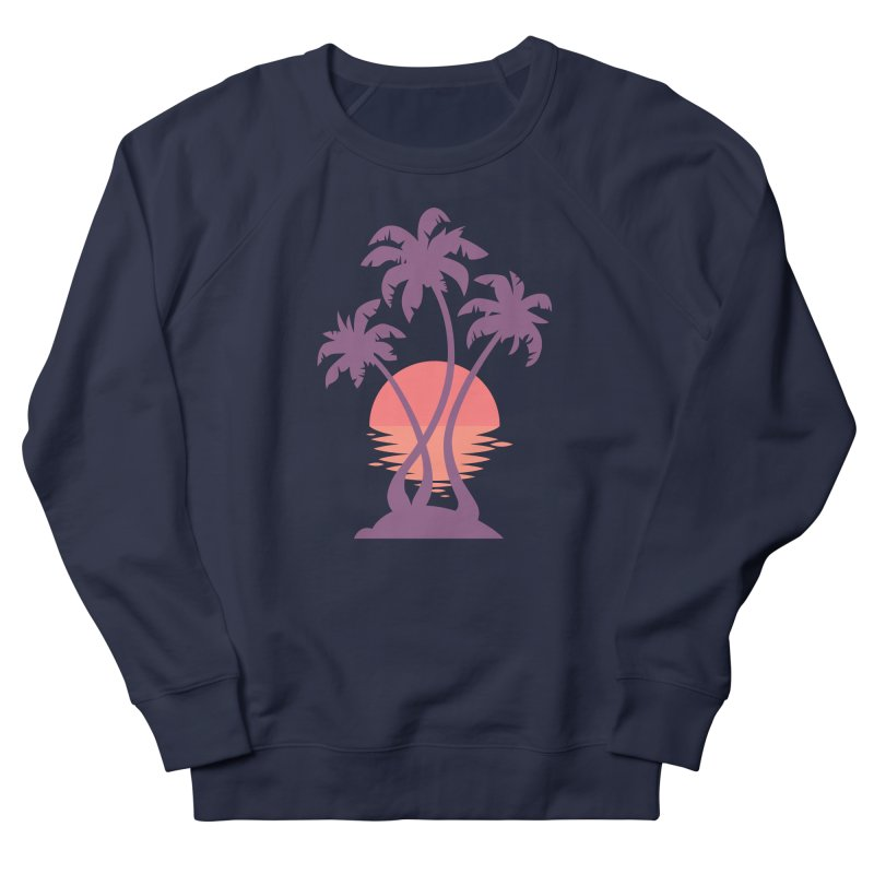 3 Palm Sunset Men's French Terry Sweatshirt by Waynem