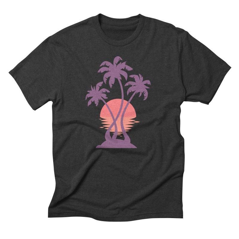 3 Palm Sunset Men's  by Waynem