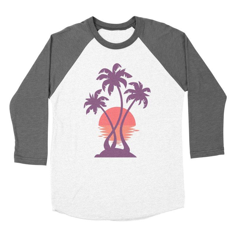 3 Palm Sunset Women's Baseball Triblend Longsleeve T-Shirt by Waynem