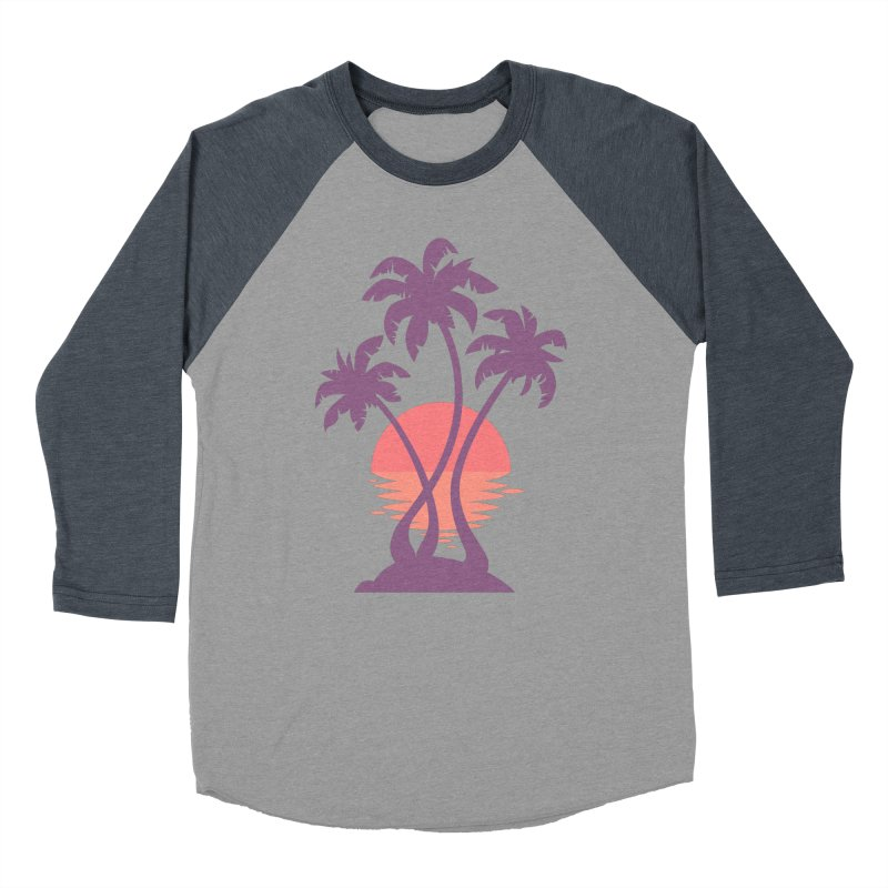 3 Palm Sunset Women's Baseball Triblend Longsleeve T-Shirt by Waynem