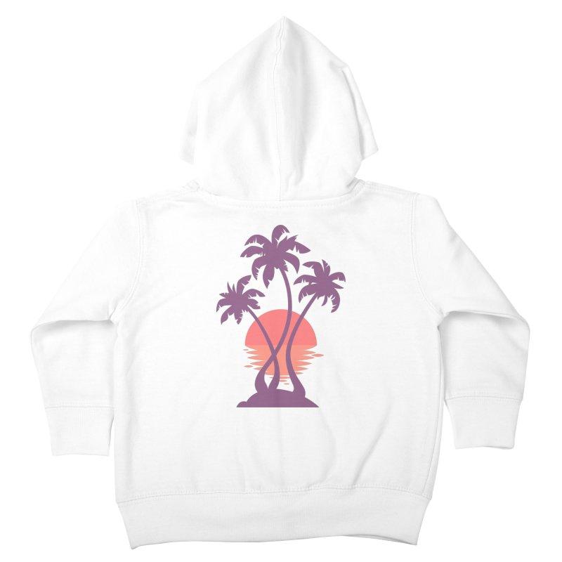 3 Palm Sunset Kids Toddler Zip-Up Hoody by Waynem