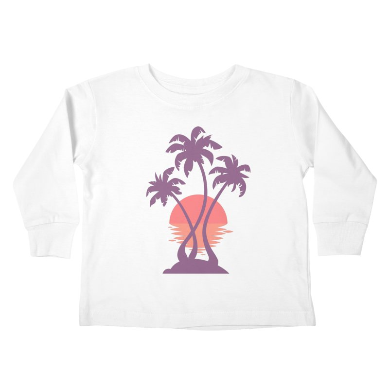 3 Palm Sunset Kids Toddler Longsleeve T-Shirt by Waynem