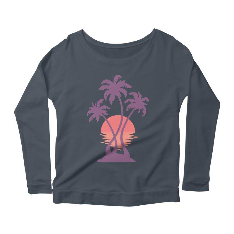 3 Palm Sunset Women's Scoop Neck Longsleeve T-Shirt by Waynem