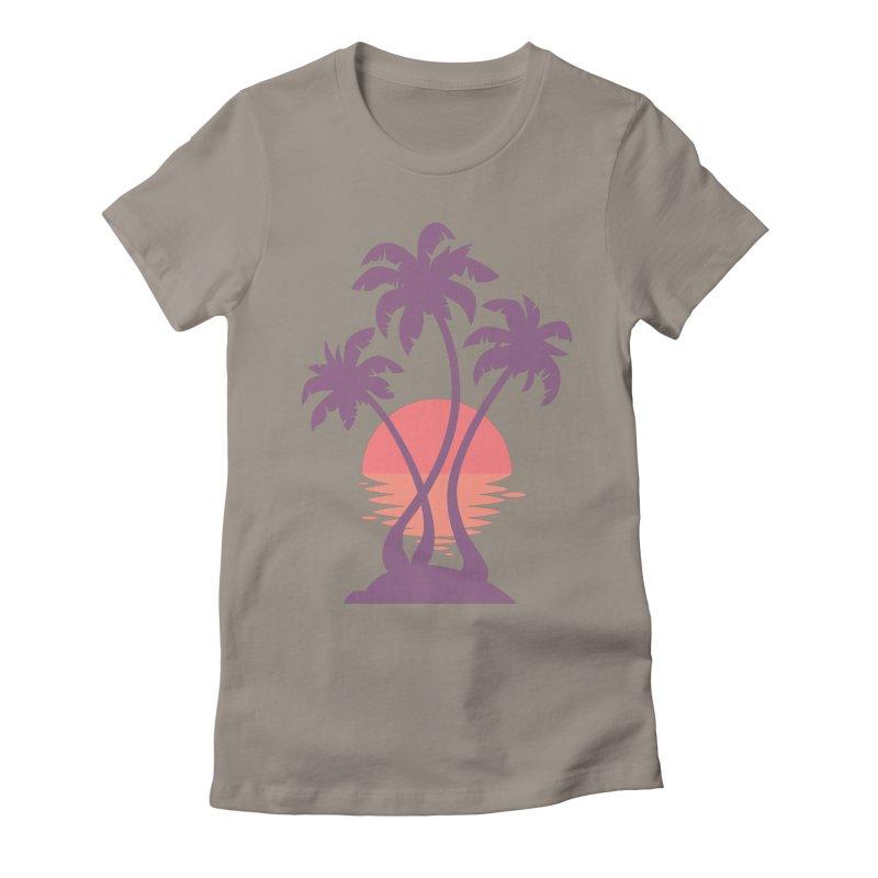 3 Palm Sunset Women's  by Waynem