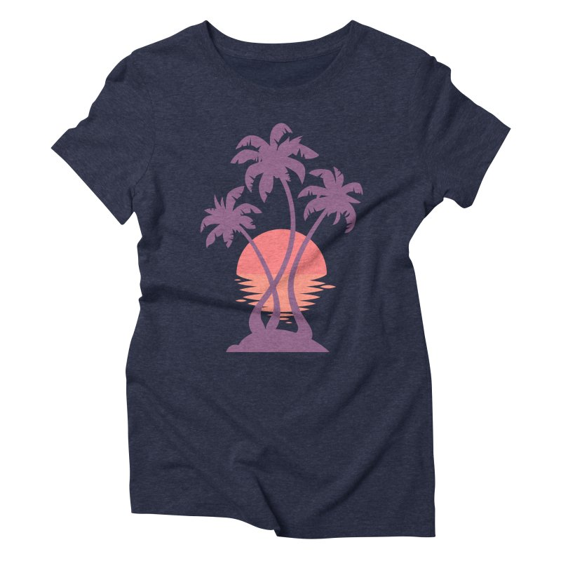 3 Palm Sunset Women's Triblend T-Shirt by Waynem