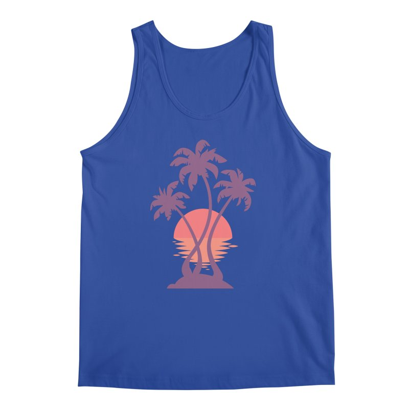 3 Palm Sunset Men's  by Waynem