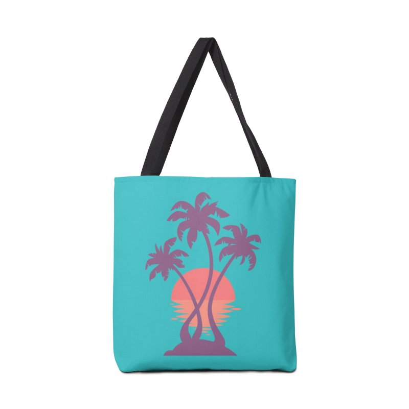 3 Palm Sunset Accessories Bag by Waynem