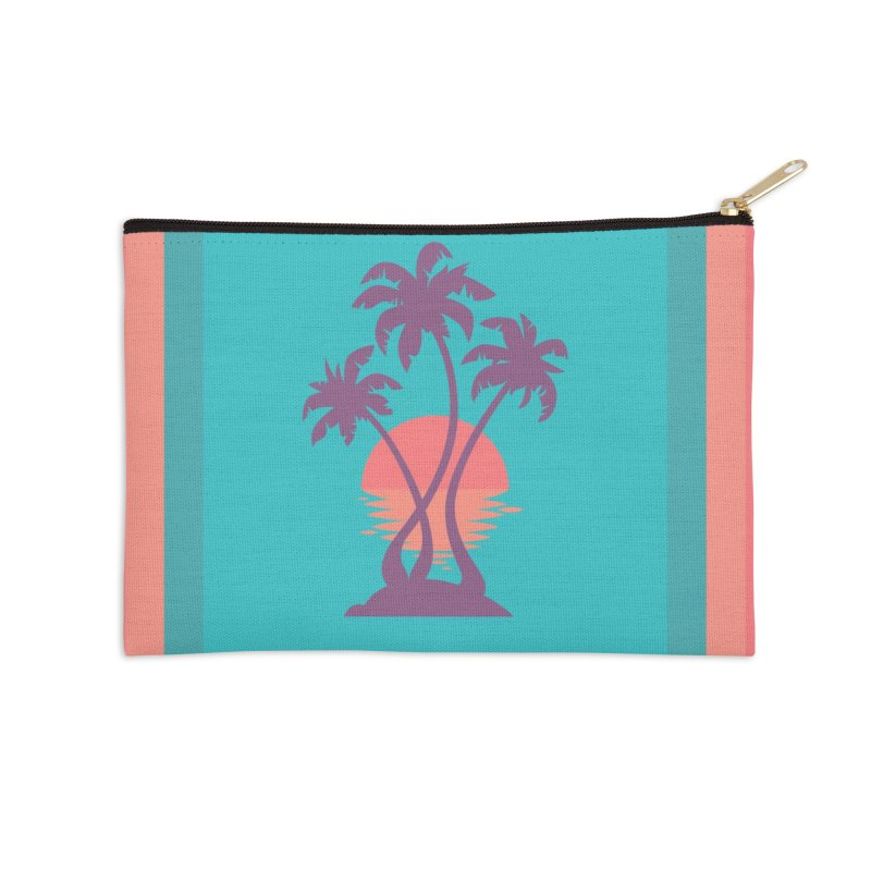 3 Palm Sunset Accessories Zip Pouch by Waynem