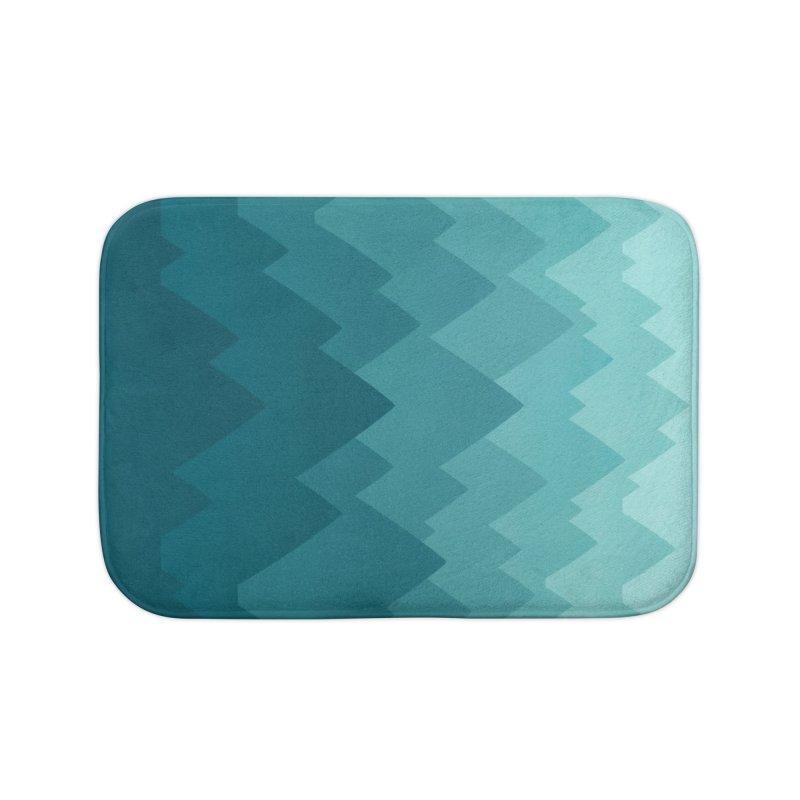 Mountain Vista: Green Home Bath Mat by Waynem