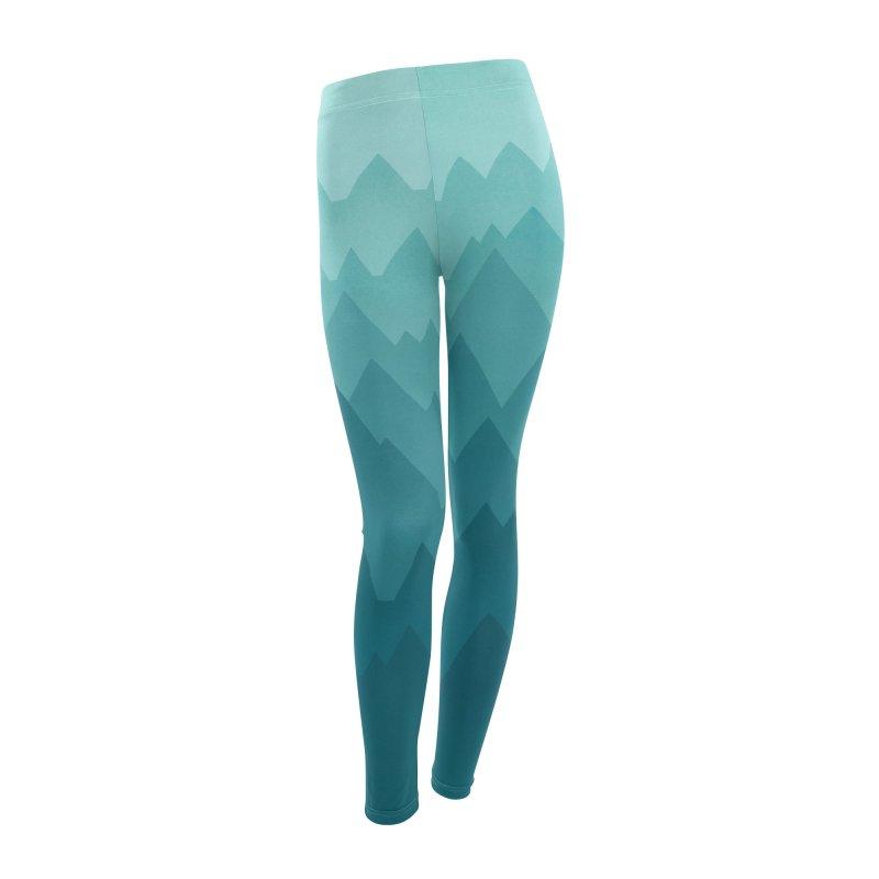 Mountain Vista: Green Women's Leggings Bottoms by Waynem
