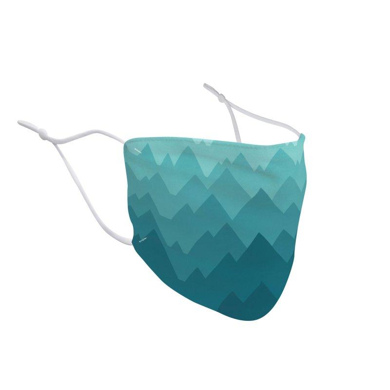 Mountain Vista: Green Accessories Face Mask by Waynem