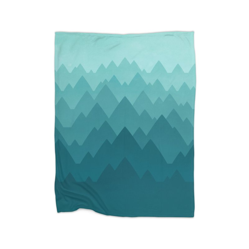 Mountain Vista: Green Home Blanket by Waynem