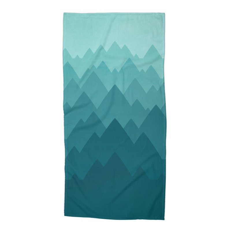 Mountain Vista: Green Accessories Beach Towel by Waynem