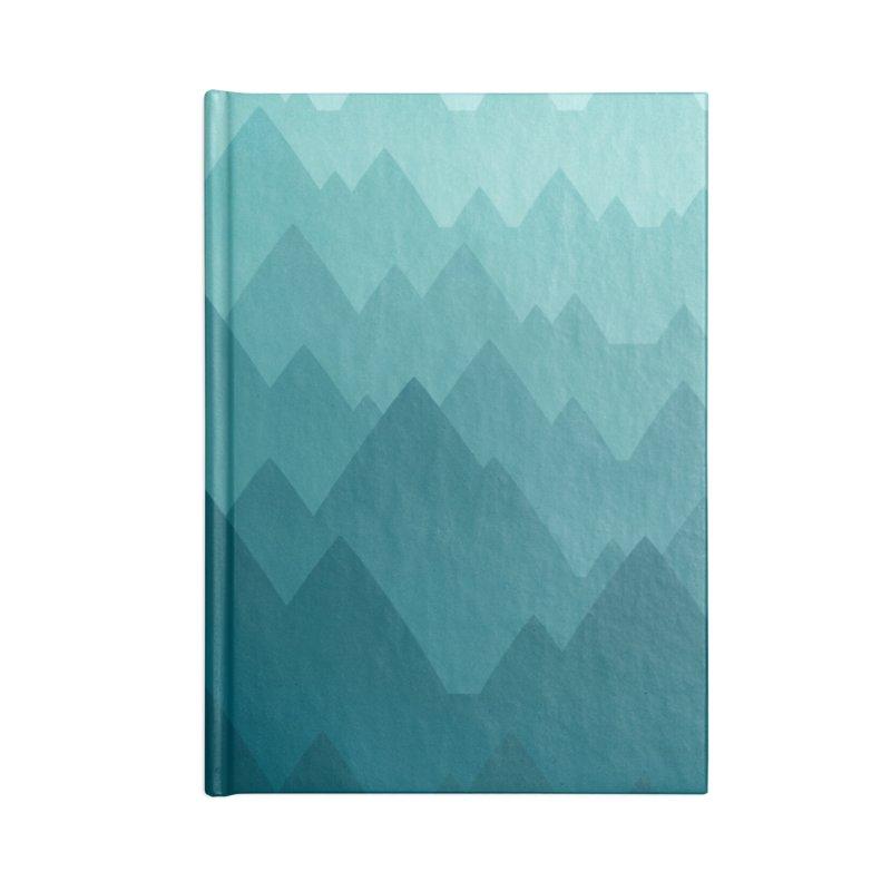 Mountain Vista: Green Accessories Notebook by Waynem