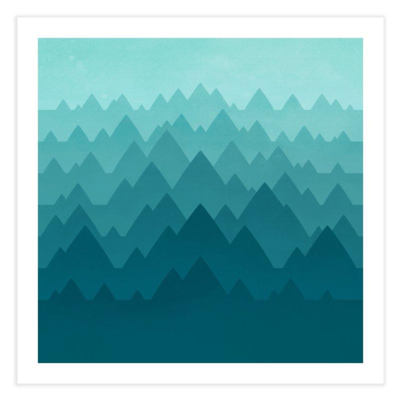 Mountain Vista: Green Home Fine Art Print by Waynem
