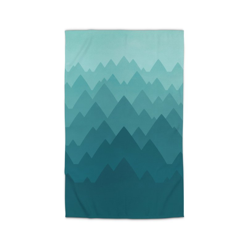 Mountain Vista: Green Home Rug by Waynem
