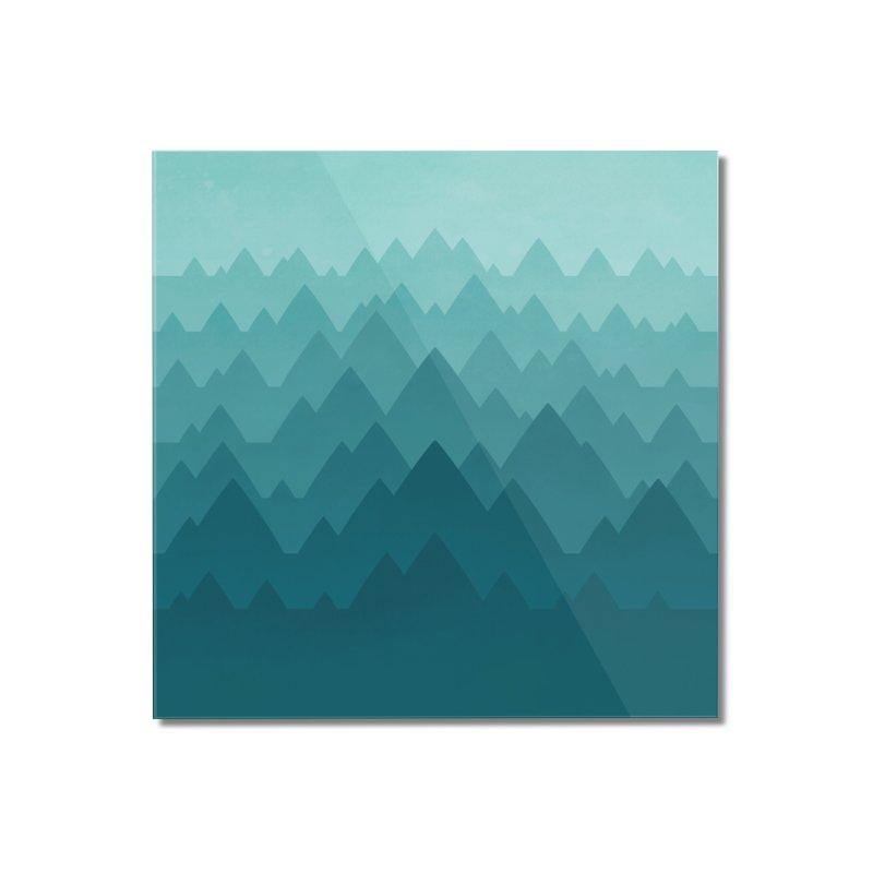 Mountain Vista: Green Home Mounted Acrylic Print by Waynem