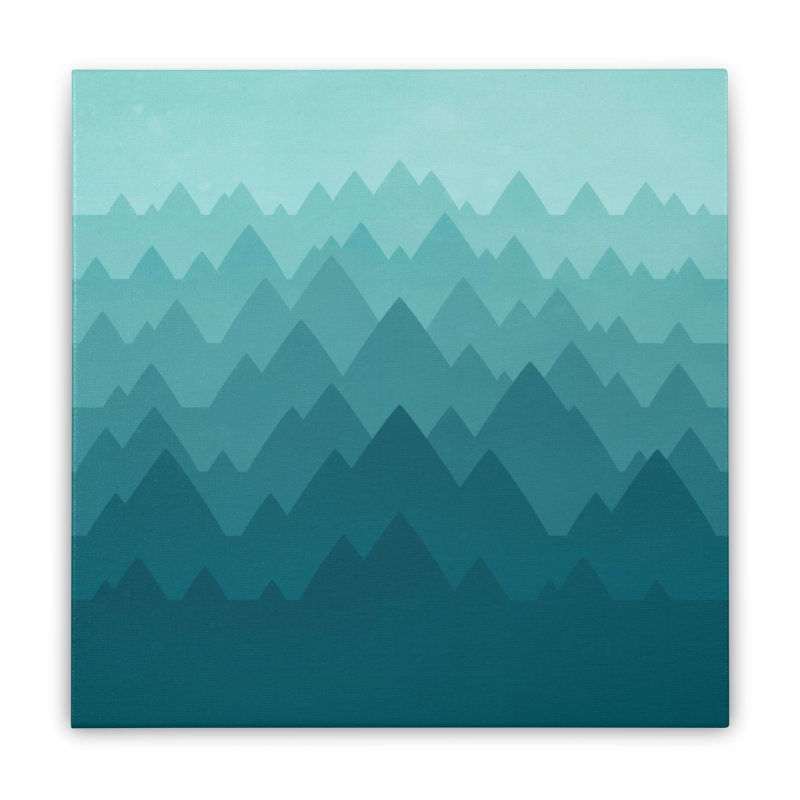 Mountain Vista: Green Home Stretched Canvas by Waynem