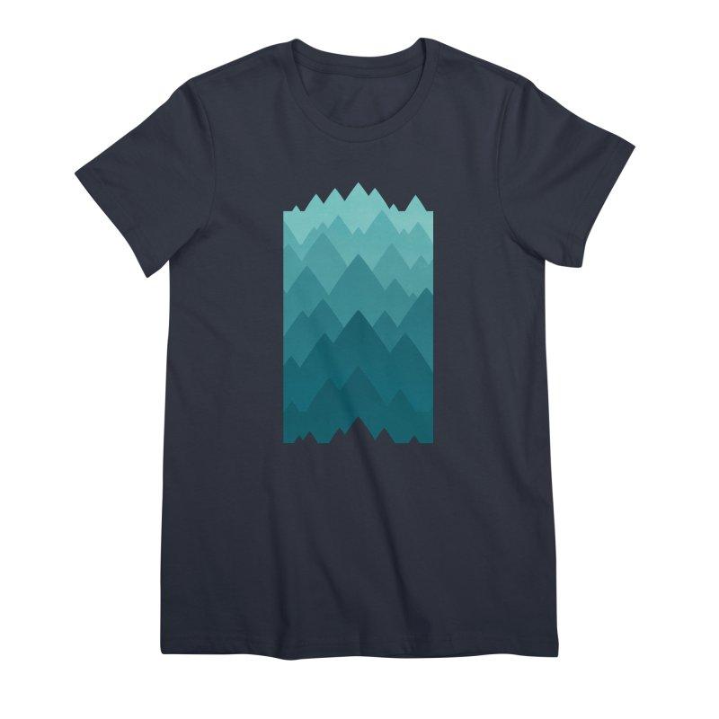 Mountain Vista: Green Women's Premium T-Shirt by Waynem
