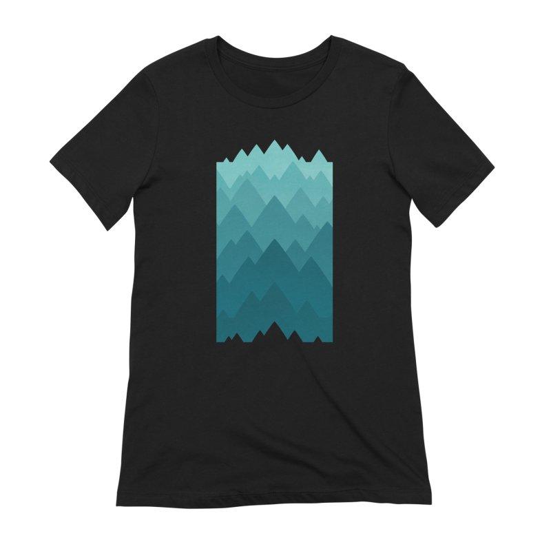 Mountain Vista: Green Women's Extra Soft T-Shirt by Waynem