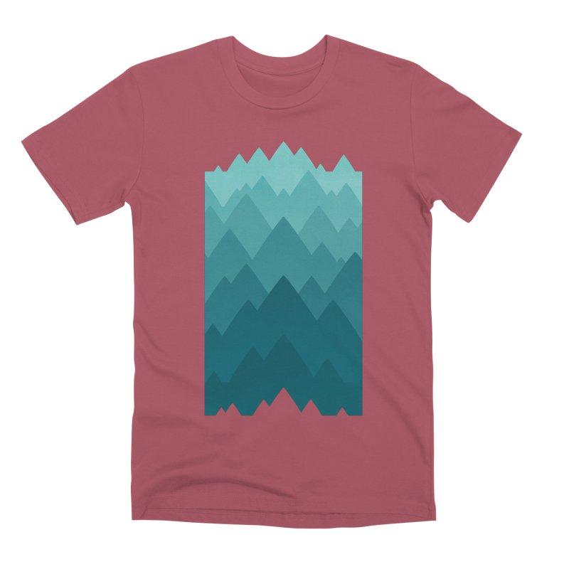 Mountain Vista: Green Men's Premium T-Shirt by Waynem