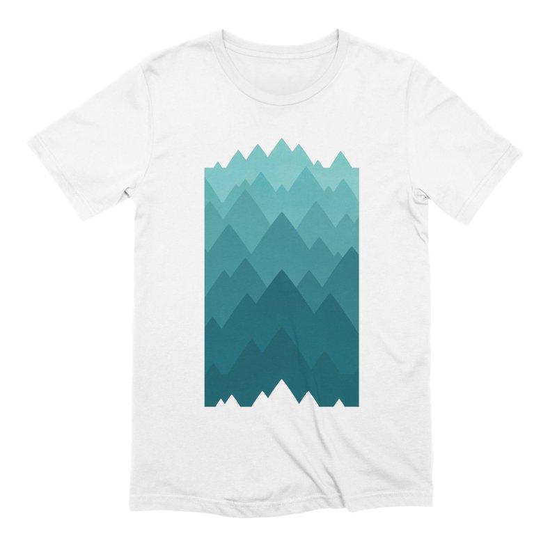 Mountain Vista: Green Men's Extra Soft T-Shirt by Waynem