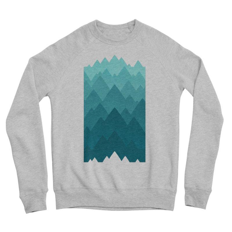 Mountain Vista: Green Men's Sponge Fleece Sweatshirt by Waynem