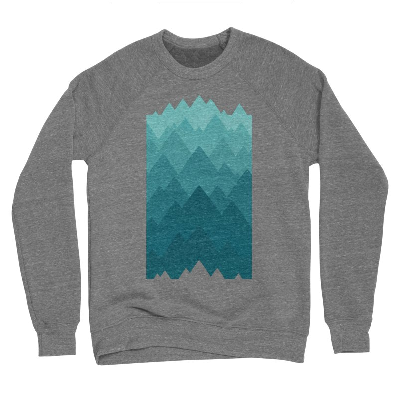 Mountain Vista: Green Men's Sponge Fleece Sweatshirt by Waynem