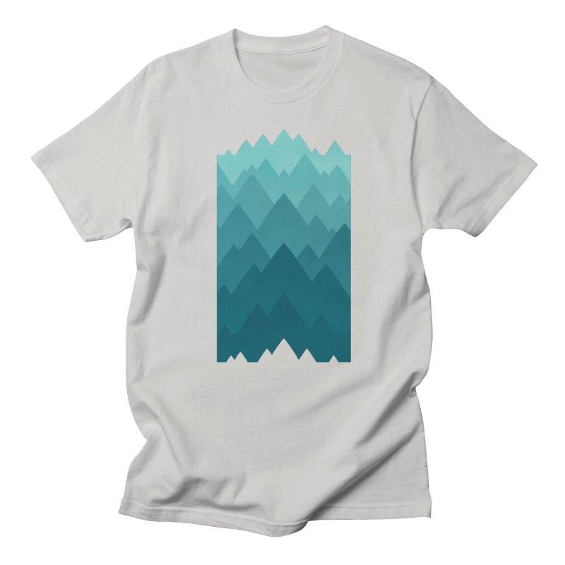 Mountain Vista: Green Men's T-Shirt by Waynem