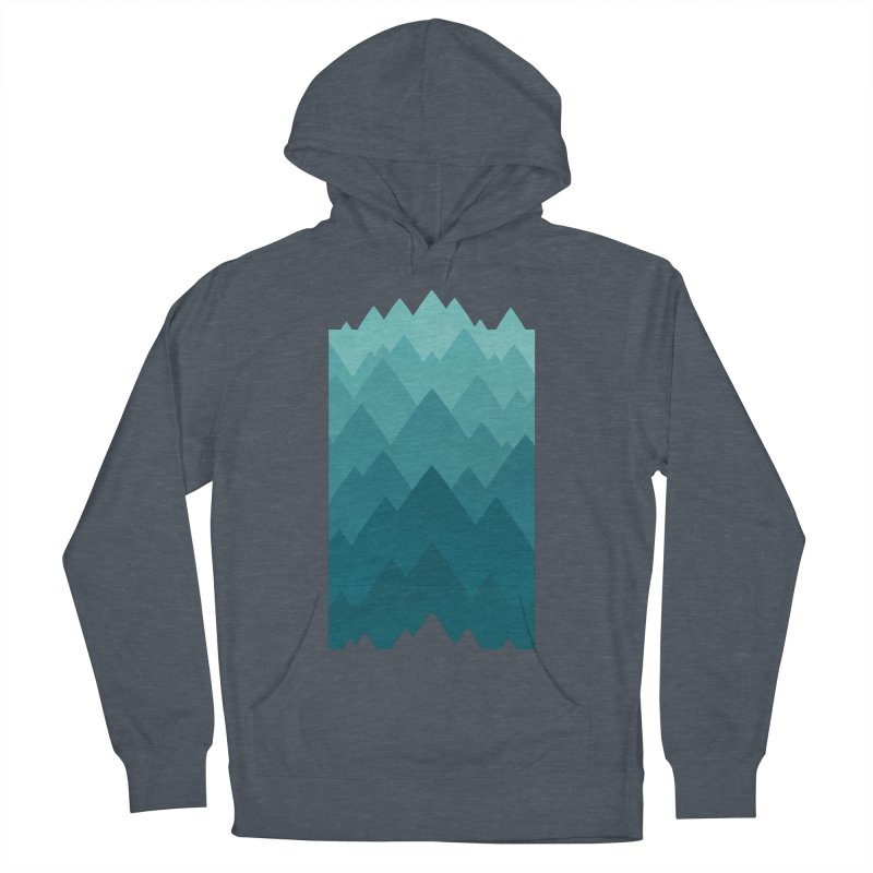 Mountain Vista: Green Women's French Terry Pullover Hoody by Waynem