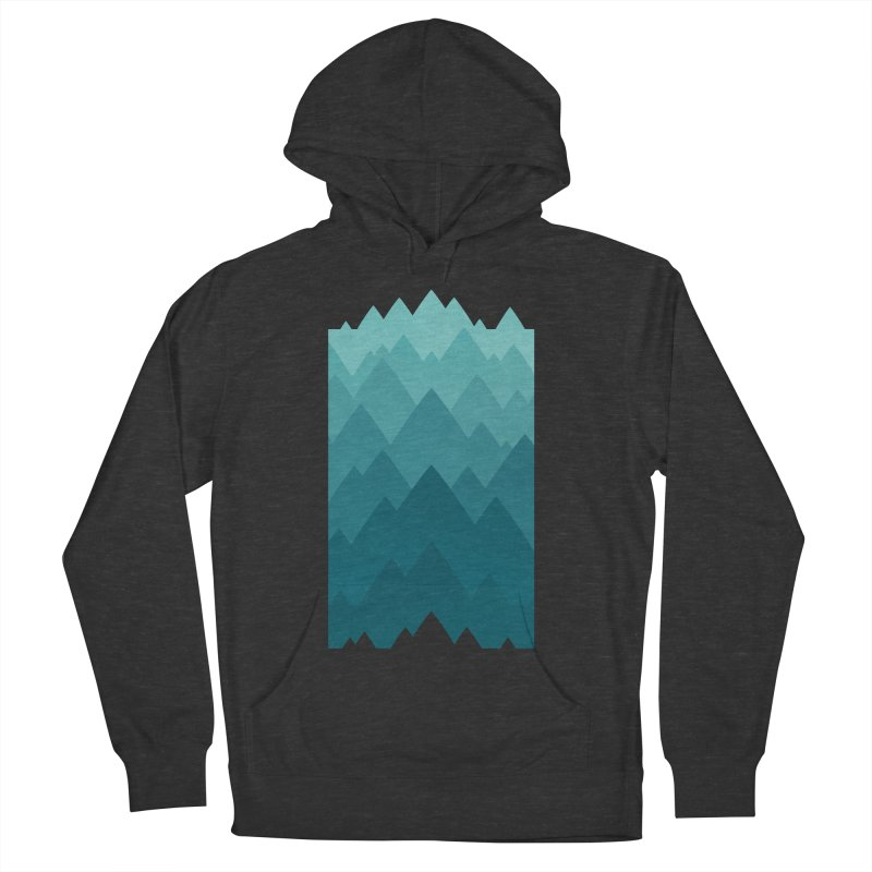 Mountain Vista: Green Men's French Terry Pullover Hoody by Waynem