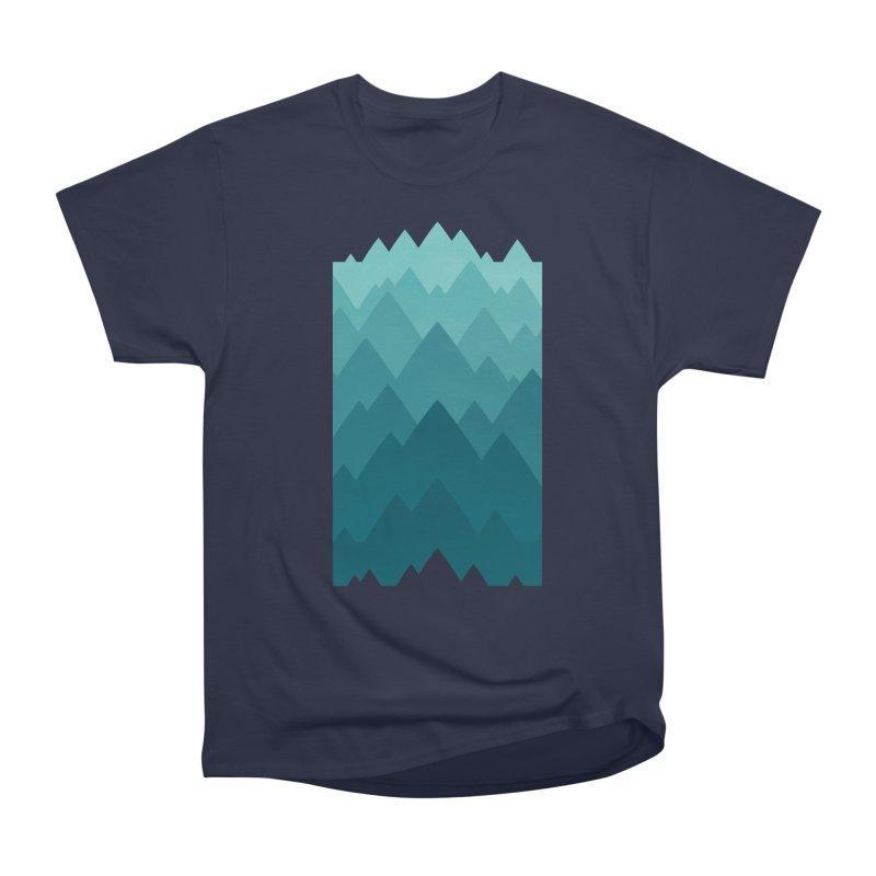 Mountain Vista: Green Women's Heavyweight Unisex T-Shirt by Waynem