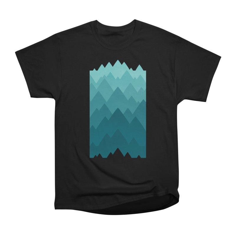Mountain Vista: Green Men's Heavyweight T-Shirt by Waynem