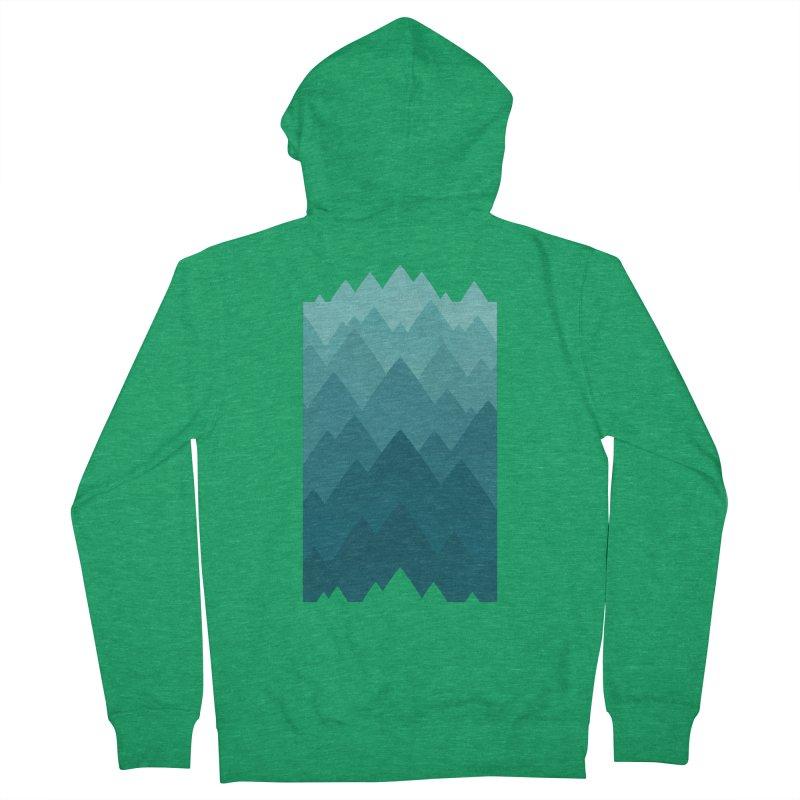 Mountain Vista: Green Women's French Terry Zip-Up Hoody by Waynem