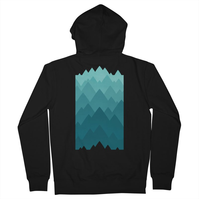 Mountain Vista: Green Men's French Terry Zip-Up Hoody by Waynem